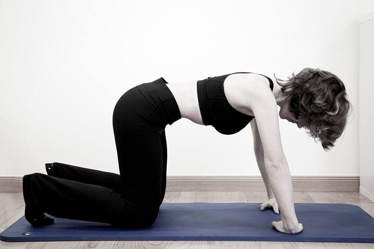 ejercicios para abdominales hipopresivos cuadripedo