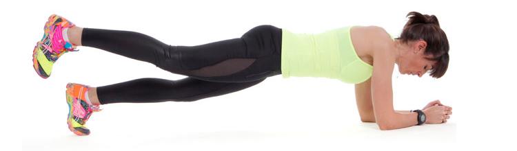 abdominales inferiores placha con pierna elevada