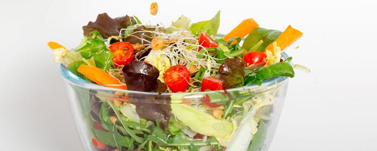cenas ligeras bouquet de lechugas con vinagreta