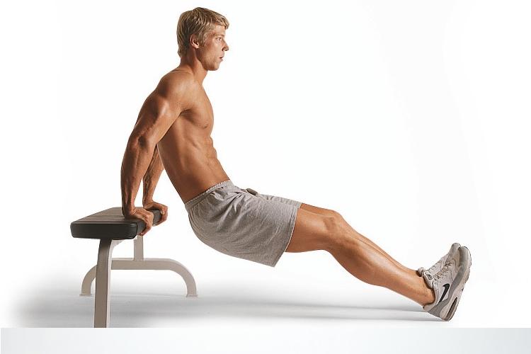 entrenamiento funcional fondos triceps