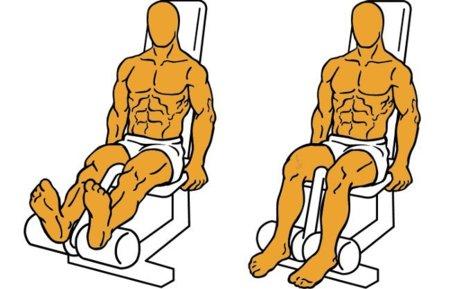flexión de rodilla en máquina