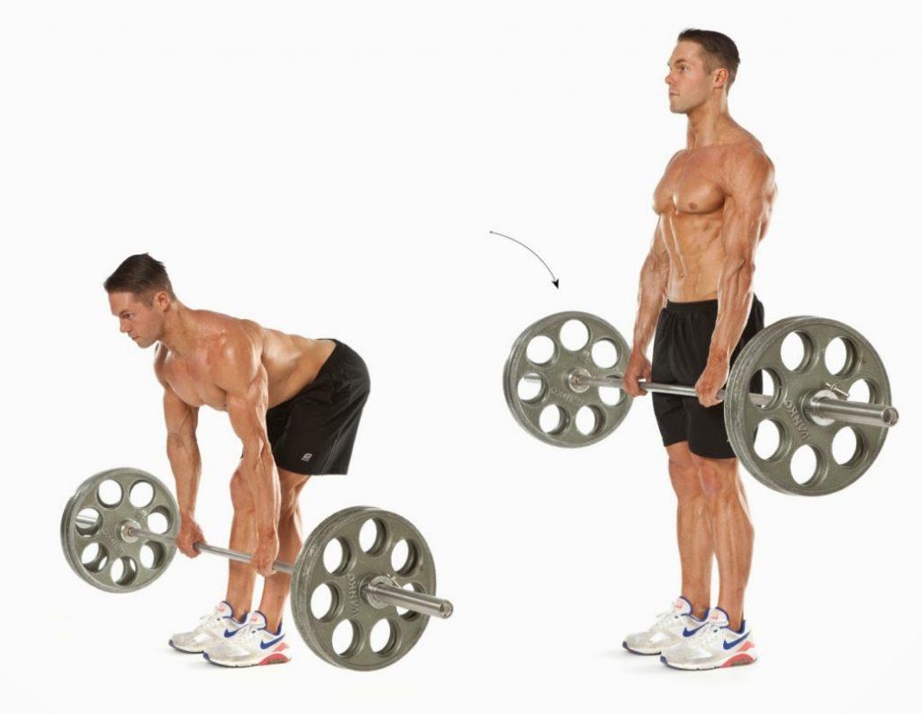 peso muerto rumano para aumentar biceps femoral